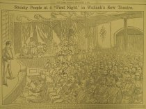 """Image of Society People at a """"First Night"""" in Wallack's New Theatre. - Gribayedoff, Valerian"""