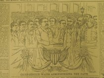 Image of Chief Justice Waite Administering The Oath. - McDougall, Walter, 1858-1938