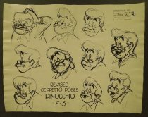 Image of ['Pinocchio' character model sheets] - Unknown