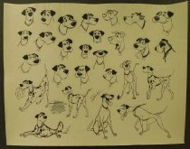 Image of ['101 dalmations' character model sheets] - Unknown