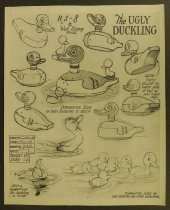 Image of ['The ugly duckling' character model sheets] - Luske, Ham, 1903-1968