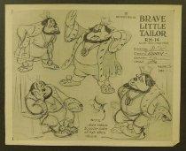 Image of ['Brave little tailor' character model sheet] - Thomas, Frank, 1912-2004