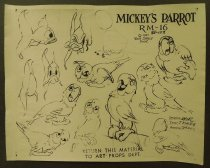 Image of ['Mickey's parrot' character model sheet] - Spenzo