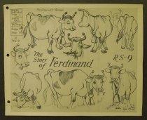 Image of ['Ferdinand the bull' character model sheets] - Luske, Ham, 1903-1968
