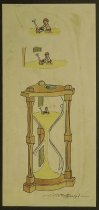 Image of [Boy playing in the sand of an hourglass] - Collins, Clive, 1942-
