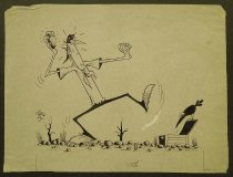 Image of [Three cartoon illustrations for magazine stories?] - Lindesay, Vane, 1920-