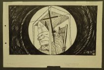 Image of [Pope John Paul II as a target seen through the cross-hairs of a rifle] - Bateup, Ross