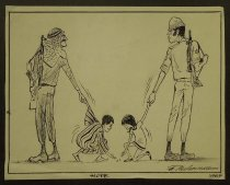 Image of [Copies of three political cartoons] - Behrendt, Fritz, 1925-