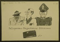 Image of Delinquenten-Drogenbarone-Diktatoren have one thing in common: a Swiss bank account! - Spahr, Jurg, 1925-2002