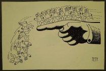 Image of [Men walking off pointing finger] - Boros, Stefan Tety