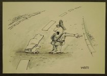 Image of [Police officer directing man under road] - Mihai, Victor Eugen