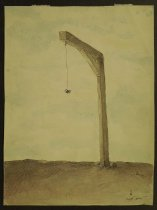 Image of [Spider hanging from gallows by web] - Boaca, Mihai, 1952-
