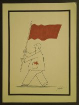 Image of [Man carrying flag] - Licurici, George, 1956-