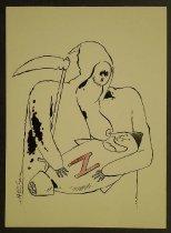 Image of [Grim reaper nursing nuclear missile] - Crisan, Horia, 1960-