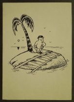 Image of [Man waiting for train on deserted island] - Crisan, Horia, 1960-