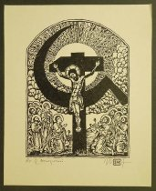 Image of [Jesus crucified on hammer and sickle] - Ignat, Mihai