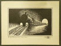 Image of [Train tracks leading into train] - Ignat, Mihai