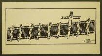 Image of [Jesus crucified along fence] - Ignat, Mihai
