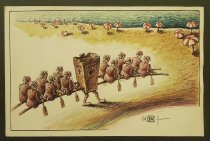 Image of [Litter carrying rowers on the beach] - Ignat, Mihai