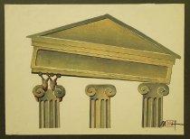 Image of [Snails raising roof off columns] - Ignat, Mihai