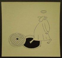 Image of [Saint (God?) steps out on to an open manhole] - Kupriy, Sergiy