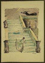 Image of [Woman running down stairs leaving foot behind] - Valery, Momot