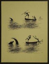 Image of [Fishermen fleeing hammer and sickle] - Kazanskij, Anatolij, 1949-1998