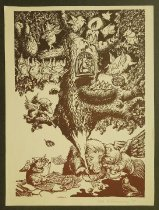 Image of [Boar writing with a tree full of winged pigs] - Kazanevsky, Vladimir