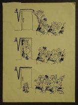 Image of [Division problem. Class of schoolchildren laughing at a shrinking teacher] - Tesler, Oleg