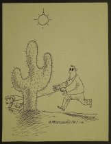 Image of [Guide dog leads blind man into a catcus] - Esquivel, Arcadio, 1959-