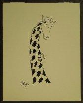 Image of [Giraffe with bird] - Galindo, Felipe, 1957-