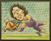 Image of Michel Prodhome (Belgium). The best goalkeeper of the world in 1994 - Alizadeh, Javad, 1953-