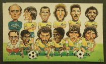 """Image of """"Brazil team"""" in 1982 World Cup - Alizadeh, Javad, 1953-"""