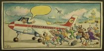 Image of [Pilot talking to passengers trying to keep a plane on the ground] - Alizadeh, Javad, 1953-