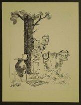 Image of [Man using a cow's tail as a shaving brush] - Kamel, Nagi, 1934-