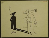 Image of [Man stares back at his shadow smoking] - Hakem, Mohamed