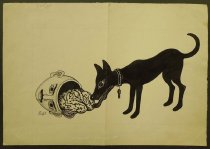 Image of [Dog eating a man's brain] - Hegazy, Ahmed