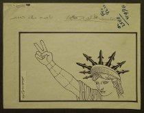 """Image of The USA is fighting 'The Gulf"""" war - Menosi, Didi, 1928–2013"""