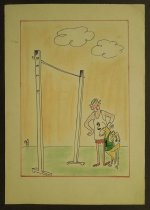 Image of [Cricket prepares to take a high jump] - Rosenfeld, Fery, 1912-1991