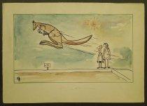 Image of [Kangaroo takes a long jump] - Rosenfeld, Fery, 1912-1991