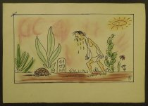 Image of [Tortoise wins a long distance run?] - Rosenfeld, Fery, 1912-1991