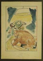 Image of [Bear pins down boxer] - Rosenfeld, Fery, 1912-1991
