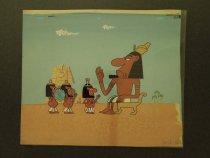 Image of [Three Egyptian servants and a Pharaoh?] - Leruer, Natan