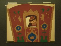Image of [Tsar Saltan looking out a carriage window] - Milchin, Lev