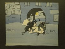 Image of [Robbers running through a town at night] - Kavavaev, Valentin
