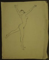 Image of [Naked woman dancing] - Jones, Grenfell (Gren), 1934–2007