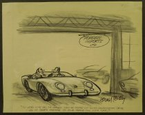 """Image of """"I'll level with you, Mr. Hadley. When we started out on this demonstration drive, I had my doubts whether you could handle this much car."""" - Reilly, Donald, 1933-2006"""