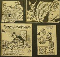 Image of [Four sports cartoons] - Munson, Walt
