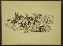 "Image of [Cowboys in a shootout] - Petersen, K. Gunnor ""Pete"", 1907-1982"