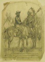 """Image of Burk Burnett Meets with Chief ... - Petersen, K. Gunnor """"Pete"""", 1907-1982"""